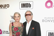 Margaret DeVogelaere and Peter Fonda attend IMDb LIVE At The Elton John AIDS Foundation Academy Awards® Viewing Party on February 24, 2019 in Los Angeles, California.