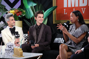 Tan France, Antoni Porowski and Aisha Tyler speak onstage at IMDb LIVE Presented By M&M'S At The Elton John AIDS Foundation Academy Awards Viewing Party on February 09, 2020 in Los Angeles, California.