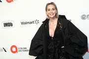Sharon Stone walks the red carpet at the Elton John AIDS Foundation Academy Awards Viewing Party on February 09, 2020 in Los Angeles, California.