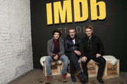 (L-R) Colin Morgan, Rupert Everett and Edwin Thomas of 'The Happy Prince' attend The IMDb Studio and The IMDb Show on Location at The Sundance Film Festival on January 21, 2018 in Park City, Utah.