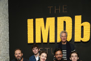 (L-R) Actors David Denman, Bubba Weiler, Kelly Macdonald, Irrfan Khan, director Marc Turtletaub and actor Austin Abrams of 'Puzzle' attend The IMDb Studio and The IMDb Show on Location at The Sundance Film Festival on January 22, 2018 in Park City, Utah.