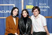 (L-R) St. Vincent, Carrie Brownstein and Bill Benz of 'The Nowhere Inn' attend the IMDb Studio at Acura Festival Village on location at the 2020 Sundance Film Festival – Day 3 on January 26, 2020 in Park City, Utah.