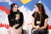 Camila Mendes and Cristin Milioti of 'Palm Springs' attend the IMDb Studio at Acura Festival Village on location at the 2020 Sundance Film Festival – Day 2 on January 25, 2020 in Park City, Utah.