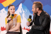 Oona Roche and Jude Law of 'The Nest' attend the IMDb Studio at Acura Festival Village on location at the 2020 Sundance Film Festival – Day 3 on January 26, 2020 in Park City, Utah.