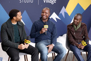 (L-R) Chiwetel Ejiofor, William Kamkwama, and Maxwell Simba of 'The Boy Who Harnessed The Wind' attend The IMDb Studio at Acura Festival Village on location at the 2019 Sundance Film Festival - Day 1 on January 25, 2019 in Park City, Utah.