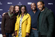 Maxwell Simba, Aïssa Maïga, William Kamkwama and Chiwetel Ejiofor of 'The Boy Who Harnessed The Wind' and Kevin Smith attend The IMDb Studio at Acura Festival Village on location at the 2019 Sundance Film Festival - Day 1 on January 25, 2019 in Park City, Utah.