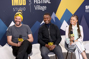 (L-R) Jacob Estes, David Oyelowo and Storm Reid of 'Relive' attend The IMDb Studio at Acura Festival Village on location at The 2019 Sundance Film Festival - Day 2  on January 26, 2019 in Park City, Utah.