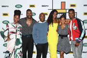 "(L-R) Teyonah Parris, Colman Domingo, director Barry Jenkins, KiKi Layne, Regina King and Stephan James of ""If Beale Street Could Talk"" attends The IMDb Studio presented By Land Rover At The 2018 Toronto International Film Festival at Bisha Hotel & Residences on September 9, 2018 in Toronto, Canada."