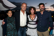 Aparna Nancherla, Kelsey Grammer, Milana Vayntrub and Frank Lesser attend the #IMDboat Party presented by Soylent and Fire TV at San Diego Comic-Con 2019 at the IMDb Yacht on July 19, 2019 in San Diego, California.