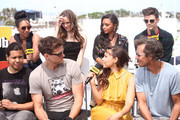 Candice Patton, Carlos Valdes, Danielle Panabaker, Hartley Sawyer, Danielle Nicolet, Jessica Parker Kennedy, Grant Gustin and Tom Cavanagh attend the #IMDboat At San Diego Comic-Con 2018: Day Three at The IMDb Yacht on July 21, 2018 in San Diego, California.