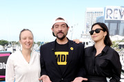 Kate Purdy, Kevin Smith and Rosa Salazar attend the #IMDboat at San Diego Comic-Con 2019: Day One at The IMDb Yacht on July 18, 2019 in San Diego, California.