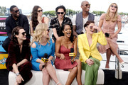 David Harewood, Nicole Maines, Katie McGrath, Andrea Brooks, Jesse Rath, Azie Tesfai, Mehcad Brooks, Chyler Leigh and Melissa Benoist speak onstage at  the #IMDboat at San Diego Comic-Con 2019: Day Three at the IMDb Yacht on July 20, 2019 in San Diego, California.