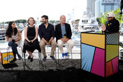 Aparna Nancherla, Lily Stuart Streiff, Frank Lesser, Kelsey Grammer and Kevin Smith speak onstage at the #IMDboat at San Diego Comic-Con 2019: Day Three at the IMDb Yacht on July 20, 2019 in San Diego, California.