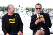 IMDb Founder and CEO Col Needham and Nicolas Winding Refn speak onstage at the #IMDboat at San Diego Comic-Con 2019: Day Three at the IMDb Yacht on July 20, 2019 in San Diego, California.