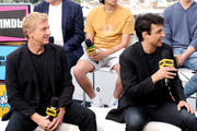 William Zabka and Ralph Macchio speak onstage at the #IMDboat at San Diego Comic-Con 2019: Day Two at the IMDb Yacht on July 19, 2019 in San Diego, California.