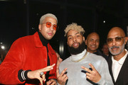 """Miles Chamley Watson and Odell Beckham Jr. attend the IMG And Harlem Fashion Row Host """"Next Of Kin"""": An Evening Honoring Ruth E. Carter at Spring Studios on February 6, 2019 in New York City."""