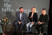 (L-R) Dean of Fashion at Parsons School of Design, Burak Cakmak, IMG Model & Activist, Amber Valetta and Designer Phillip Lim speak on the 'Responsible Revolution' panel in partnership with The Woolmark Company during NYFW: The Shows at Spring Studios on September 06, 2019 in New York City.