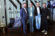 (L-R) Dean of Fashion at Parsons School of Design, Burak Cakmak, Journalist Dana Thomas, IMG Model & Activist, Amber Valetta and Designer Phillip Lim pose before the 'Responsible Revolution' panel in partnership with The Woolmark Company during NYFW: The Shows at Spring Studios on September 06, 2019 in New York City.