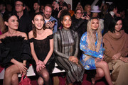 Rachel Bilson, Alexa Chung, Indya Moore, Zhavia Ward and Leigh Lezark attend the front row for Christian Siriano during New York Fashion Week: The Shows at Spring Studios on February 06, 2020 in New York City.