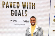Eric West is spotted at Visas Grit, Grace, Greatness retail shop during NYFW: The Shows at Spring Studios on February 08, 2020 in New York City.