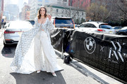 Bailee Madison arrives to NYFW: The Shows in a BMW 750i xDrive Sedan in New York City on February 06, 2020. For the second consecutive year, BMW is the lead automotive partner at New York's biggest fashion event.