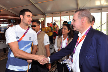 Nathan French IOC President Jacques Rogge Visits 2012 Olympic Village