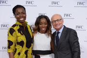 "Adepero Oduye, singer Estelle and IWC CEO Georges Kern attend the ""For the Love of Cinema"" dinner hosted by IWC Schaffhausen and Tribeca Film Festival at Urban Zen on April 17, 2014 in New York City."