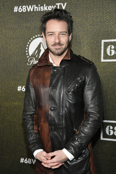 "Paramount Network's ""68 Whiskey"" Premiere Party [facial hair,clothing,jacket,leather,leather jacket,beard,textile,outerwear,top,68 whiskey,ian bohen,premiere party,california,los angeles,sunset tower,paramount network,ian bohen,yellowstone,photography,paramount network,photograph,image,stock photography,leather jacket]"
