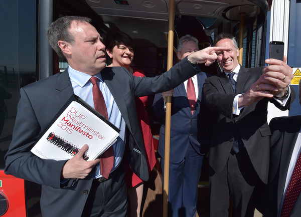 Deputy Leader Of The DUP Nigel Dodds Out On The Campaign Trail