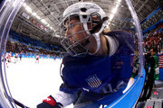 Hilary Knight #21 of the United States skates along the boards in the second period against Canada during the Women's Gold Medal Game on day thirteen of the PyeongChang 2018 Winter Olympic Games at Gangneung Hockey Centre on February 22, 2018 in Gangneung, South Korea.