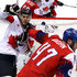 Rene Bourque Photos - Michal Jordan #47 of the Czech Republic hits Rene Bourque #17 of Canada in the second period during the Men's Bronze Medal Game on day fifteen of the PyeongChang 2018 Winter Olympic Games at Gangneung Hockey Centre on February 24, 2018 in Gangneung, South Korea. - Ice Hockey - Winter Olympics Day 15