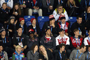 (L-R) Ryan Kesler, Ryan Callahan, Derek Stepan and Cam Fowler of the United States sit next to Carey Price, P.K. Subban, Roberto Luongo, Sidney Crosby, Jay Bouwmeester, Shea Weber and Patrice Bergeron of the Canadian Men's Ice Hockey team while watching during the Women's Ice Hockey Preliminary Round Group A game between Canada and the United States on day five of the Sochi 2014 Winter Olympics at Shayba Arena on February 12, 2014 in Sochi, Russia.