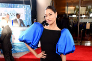 Janina Gavankar stops by the Icelandic Glacial bar at the 77th Annual Golden Globe Awards on January 5, 2020 at the Beverly Hilton in Los Angeles, CA.