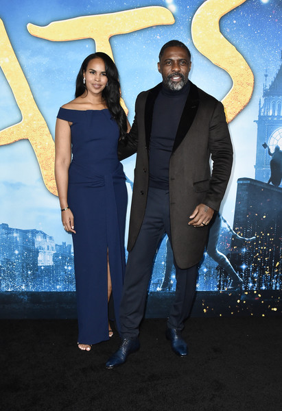 """Cats"" World Premiere [cats,suit,formal wear,fashion,tuxedo,premiere,event,pantsuit,electric blue,carpet,dress,sabrina dhowre elba,idris elba,alice tully hall,new york city,lincoln center,cats world premiere,world premiere]"