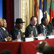 Idriss Deby Itno Paris Summit for safety in Nigeria  AT  The Elysee Palace