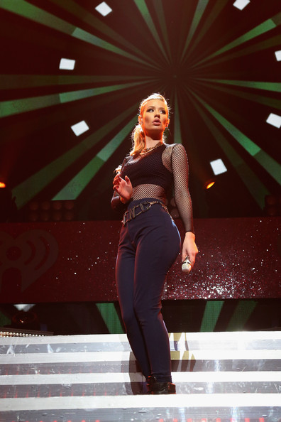 KISS 108's Jingle Ball 2014 - Show [performance,entertainment,red,performing arts,beauty,fashion,stage,event,music artist,singing,iggy azalea,boston,massachusetts,td garden,kiss 108,market basket supermarkets,jingle ball 2014 - show]