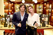 Nacho Figueras and Delfina Blaquier attend the Ignacio Figueras Fragrance Collection Launch Celebration at Bergdorf Goodman in NYC with creator, entrepreneur, and world renowned polo player Nacho Figueras on December 11, 2019 in New York City.