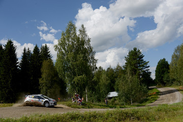 Ilka Minor FIA World Rally Championship Finland: Day 1