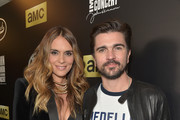 (Editorial Use Only) Juanes (L) and Karen Martinez attend the Imagine: John Lennon 75th Birthday Concert at The Theater at Madison Square Garden on December 5, 2015 in New York City.