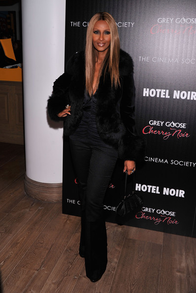 "Iman - Gato Negro Films And The Cinema Society Host A Screening Of ""Hotel Noir""- Arrivals"