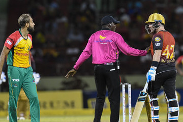 Imran Tahir Guyana Amazon Warriors vs. Trinbago Knight Riders - 2018 Hero Caribbean Premier League (CPL) Tournament
