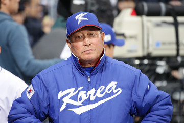 In Sik Kim World Baseball Classic - Pool A - Game 1 - Israel v South Korea
