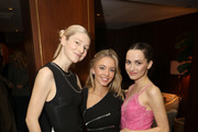 (L-R) Hunter Schafer, Sydney Sweeney, and Maude Apatow attends the InStyle Badass Women Dinner Hosted By Laura Brown & Sponsored By Secret at Sunset Tower on January 28, 2020 in West Hollywood, California.