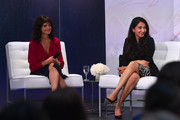 (L-R) Carla Gugino, and Shyla Raghav speak on stage during the InStyle Talks: Power Players presented by Longines & launch of Longines Conquest Classic Collection on June 05, 2019 in New York City.