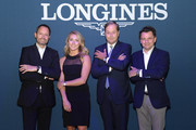 (L-R) Pascal Savoy, Mikaela Shiffrin, Charles Villoz, and Stephane Deneef attend the InStyle Talks: Power Players presented by Longines & launch of Longines Conquest Classic Collection on June 05, 2019 in New York City.