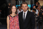 Marion Cotillard and Leonard Decaprio attend the UK film premiere for 'Inception' at the Odeon Leicester Square on July 8, 2010 in London, England.