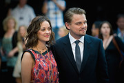 Marion Cotillard and Leonard Decaprio attend the World film premiere for 'Inception' at the Odeon Leicester Square on July 8, 2010 in London, England.