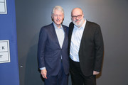 """Yaron Zilberman (R) and Bill Clinton attend a special screening of """"Incitement"""" at The Landmark at 57 West on February 01, 2020 in New York City."""