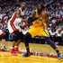 Chris Bosh Photos - Roy Hibbert #55 of the Indiana Pacers looks to move the ball inside in the third quarter against Chris Bosh #1 of the Miami Heat during Game Seven of the Eastern Conference Finals of the 2013 NBA Playoffs at AmericanAirlines Arena on June 3, 2013 in Miami, Florida.  NOTE TO USER: User expressly acknowledges and agrees that, by downloading and or using this photograph, User is consenting to the terms and conditions of the Getty Images License Agreement. - Indiana Pacers v Miami Heat