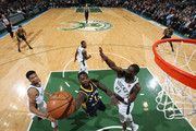 Lance Stephenson #1 of the Indiana Pacers dunks against Tony Snell #21 of the Milwaukee Bucks on January 3, 2018 at the BMO Harris Bradley Center in Milwaukee, Wisconsin. NOTE TO USER: User expressly acknowledges and agrees that, by downloading and or using this Photograph, user is consenting to the terms and conditions of the Getty Images License Agreement. Mandatory Copyright Notice: Copyright 2018 NBAE